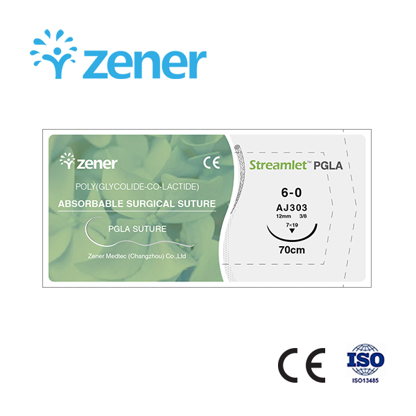 Absorbable surgical suture (PGLA suture),Poly(Glycolide-co-Lactide),Suture,Soft suture, Absorbable suture, Imported materials,Absorption stability,Hydrolytic absorption mechanism,Absorption speed,Surgical consumables,General surgery,with/without needle,St