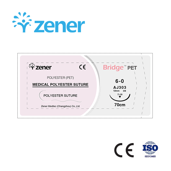 Medical polyester suture,Polyester (PET),Non-absorbable surgical suture,Suture,Soft suture, Imported materials,Surgical consumables,General surgery,with/without needle,Sterilization package, Individual package